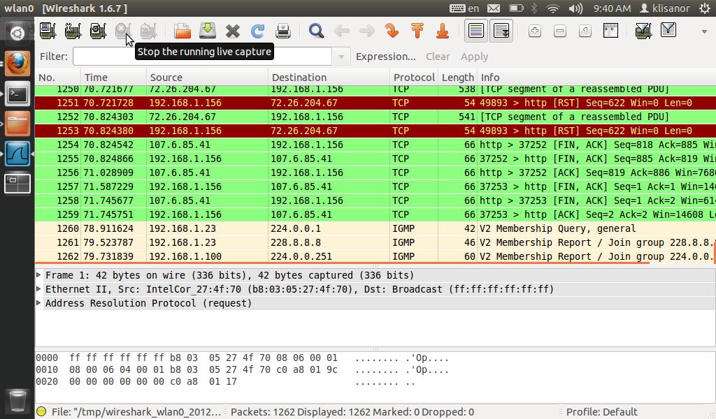 Extract radio streams with Wireshark – sandalov org